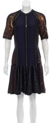 Lanvin Sequin-Embellished Mini Dress