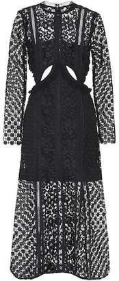 Self-Portrait Payne Cutout Midi dress