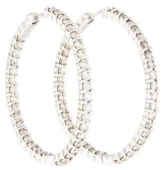 Roberto Coin 18K Diamond Inside-Out Hoop Earrings