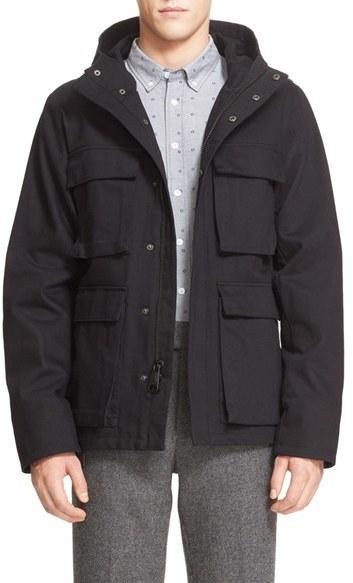 Men's Saturdays Nyc 'M-65' Hooded Utility Jacket