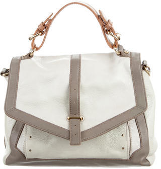 Tory BurchTory Burch 797 Bicolor Grained Leather Satchel