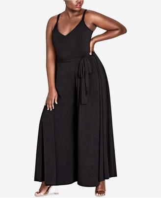 City Chic Trendy Plus Size Wide-Leg Jumpsuit