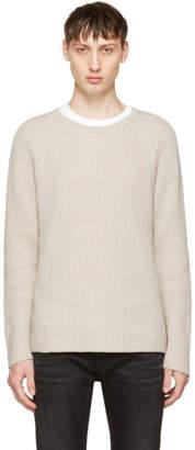 Nudie Jeans Beige Aron Sweater