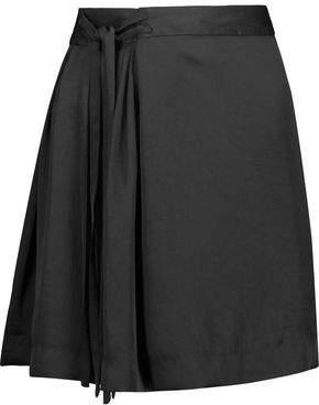 Etoile Isabel Marant Hudson Tie-Front Satin-Crepe Mini Skirt