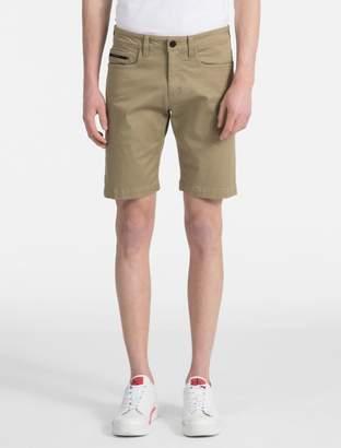 Calvin Klein cotton stretch twill 5-pocket shorts