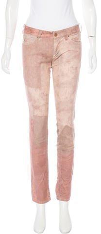 Isabel MarantIsabel Marant Printed Straight-Leg Jeans w/ Tags