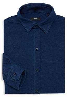 HUGO BOSS Robbie Sharp-Fit Cotton Dress Shirt