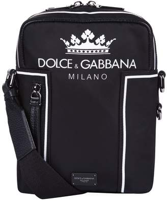 Dolce & Gabbana Crown Logo Vulcano Shoulder Bag