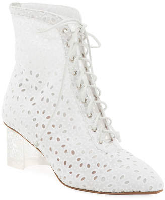Alaia Floral-Lace 50mm Booties