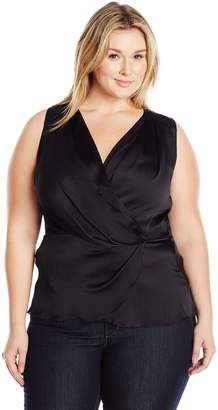 Melissa McCarthy Women's Plus Size Tulip Sleeveless Tank Top Blouse