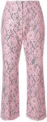 MSGM lace cropped trousers