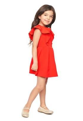 Milly Minis Italian Cady Ruffle Dress