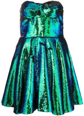 Amen sequinned bustier dress
