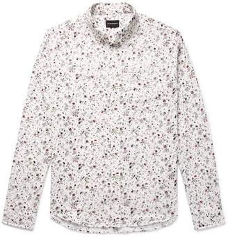 Club Monaco Button-Down Collar Double-Faced Floral-Print Cotton Shirt