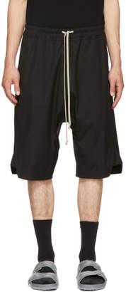 Rick Owens Black Patagonia Basket Swinger Shorts