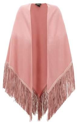 Babjades - Suede Fringed Cashmere Shawl - Womens - Pink