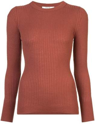 Sea ribbed fitted sweater