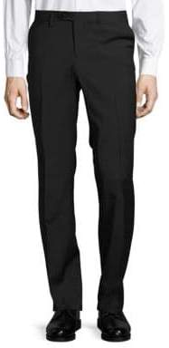 Versace Narrow Stripe Wool Stretch Dress Pants