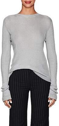 Philosophy di Lorenzo Serafini Women's Logo-Print Metallic Sweater - Silver