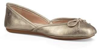 UGG Genuine Leather Lena Ballet Flat