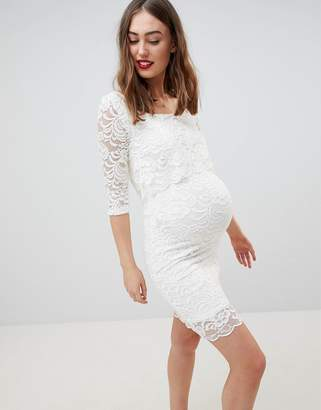 Mama Licious Mama.Licious Mamalicious Lace Double Layered Nursing Dress