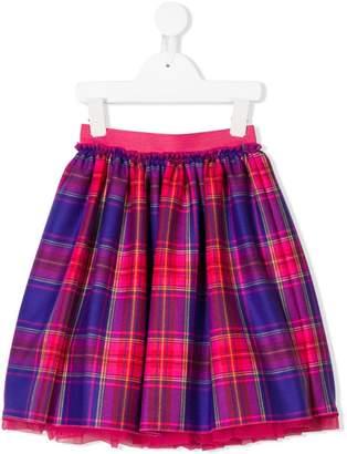 Il Gufo pleated plaid skirt