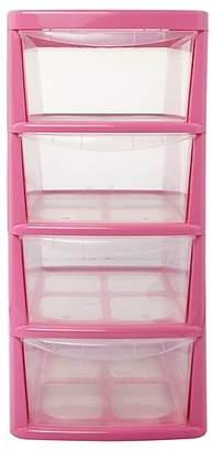 Thumbs Up Pink 4 Drawer Storage Unit