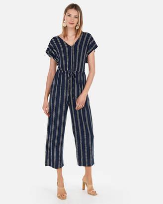 Express Striped Culotte Jumpsuit