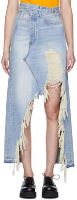 R 13 Blue Denim Harrow Skirt