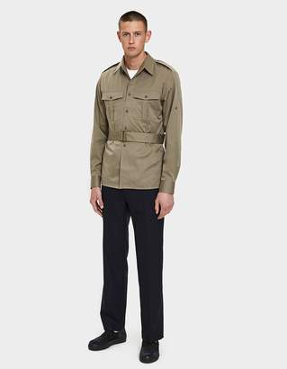 Dries Van Noten Twill Shirt in Sand