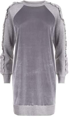 Elie Tahari Velour Destine Sweater Dress
