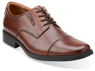 Clarks Tilden Leather Cap-Toe Oxfords