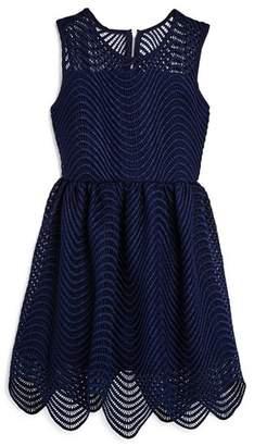 Bardot Junior Girls' Scalloped Spiral Lace Dress - Little Kid