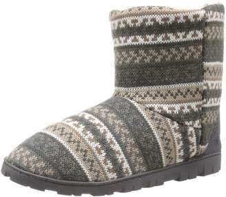 Muk Luks Women's Short Lug Boot Promo-Neutral Slipper