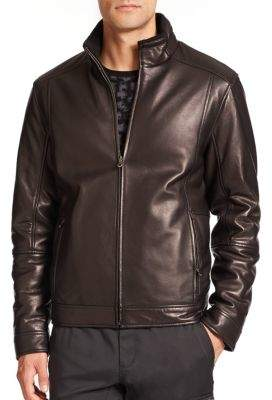 Saks Fifth Avenue COLLECTION Reversible Leather Jacket