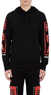 Hood by Air HOOD BY AIR MEN'S BURNT-MOON-GRAPHIC HOODIE-BLACK SIZE XL $470 thestylecure.com