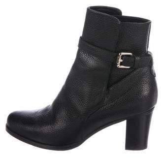 LK Bennett Leather Ankle-Strap Booties