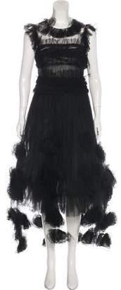 Chanel Paris-Monte Carlo Camellia Tulle Gown
