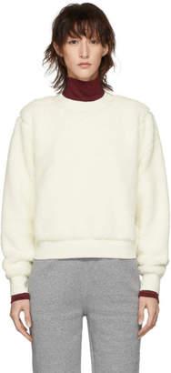 Rag & Bone White Teddy Pullover Sweatshirt