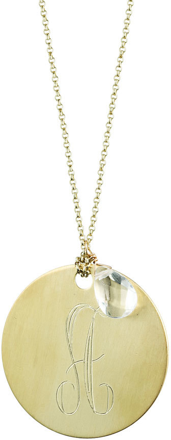 Danielle Stevens Jewelry Gold Chain with Gold Disk