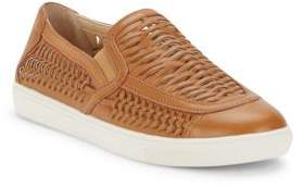 J/Slides Cutup Leather Slip-On Sneakers
