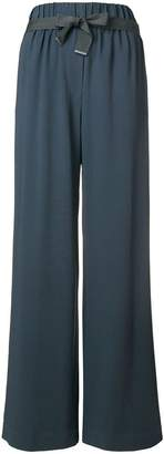 Fabiana Filippi long wide-leg trousers