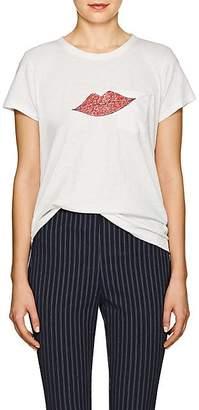 "Rag & Bone Women's ""Lips"" Cotton T-Shirt - White"