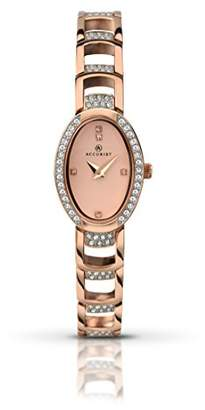 Accurist Women's Quartz Watch with Rose Gold Dial Analogue Display and Rose Gold Bracelet 8037.01