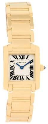 Cartier Tank Francaise W50002N2 18K Yellow Gold 20mm Womens Watch