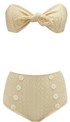 Lisa Marie Fernandez Poppy High Rise Bikini - Womens - Cream Multi