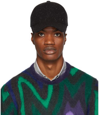 Paul Smith Black Wool Speckled Cap