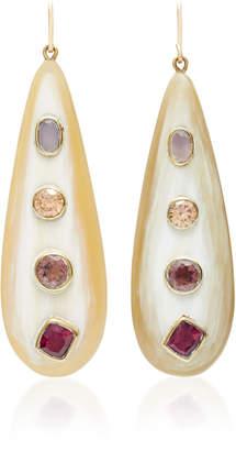 Ashley Pittman Upendo Rose Quartz Orange Zircon Pink Amethyst and Garnet Earrings