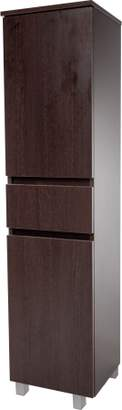 URBAN RESEARCH AGM Home Store Floor Standing/ Wall Mounted Storage Tall Bathroom Cabinet, 1 Drawer and 2 Wenge)