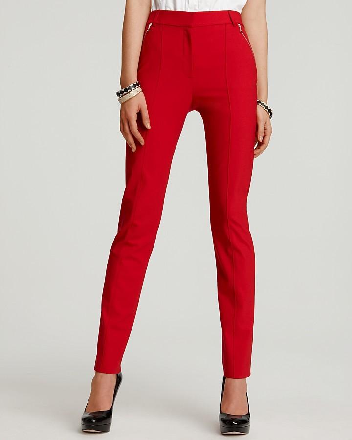 Rachel Roy Tropical Wool Skinny Zip Pants